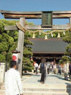 山口県萩市の松陰神社鳥居